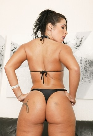 Stunning big booty babe Monica Santhiago shows off in various positions