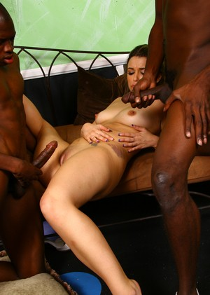 Ebony rappers shove enormous shafts in pussy of whorish girl Katie Thomas