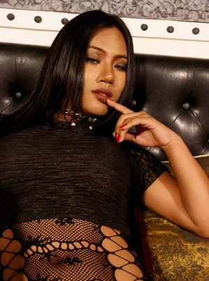 Extremely hot lingerie makes exotic shemale Areeya looking dangerously hot
