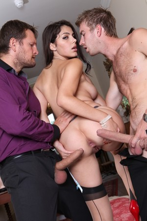 Valentina Nappi gets to ride rock-solid cocks while wearing sexy lingerie