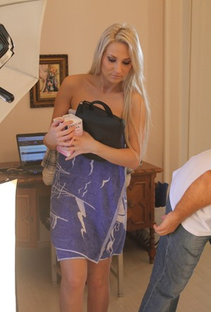 Hot babes Colette A and Viktoria Diamond strip each other's clothes