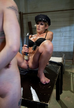 Blonde chick delivers CBT to man that was caught smuggling drugs