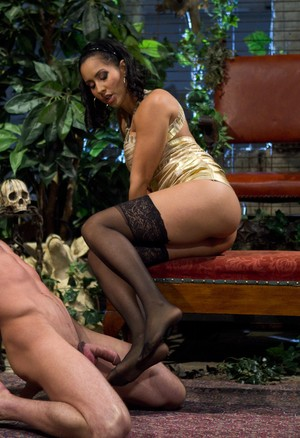 Busty dominatrix Isis Love works her orgasm denial magic upon Lance Hart