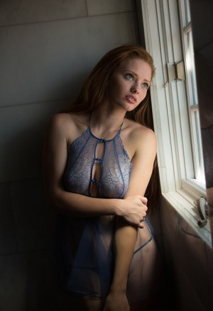 Amateur Wendy Patton models see thru lingerie at home after public flashing