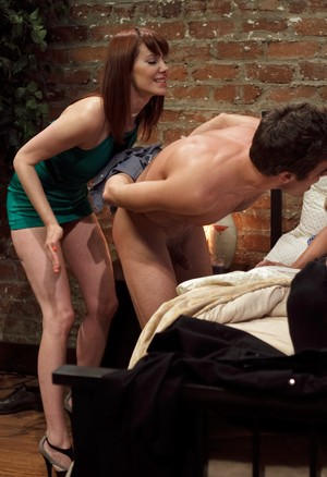 2 ladies humiliate a husband with a small dick in front of his buddy