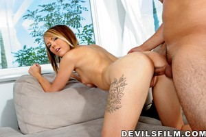 Nasty girls Amy Starz and Ashton Pierce are happy to get a dick after wine