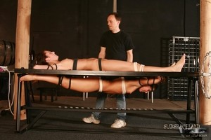 Two tied up girls agree to suck master's cock before he ties them up again