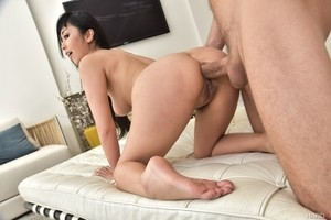 Asian pornstar Marica Hase goes ass to mouth with blinking an eye