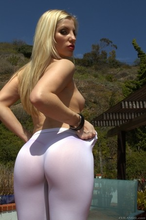 Top pornstars take turns flaunting their big asses in jeans or tights
