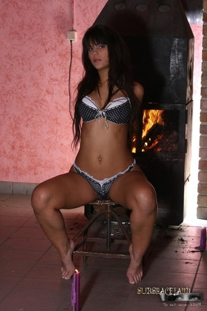 Sexy BDSM brunette Defrancesa Gallardo gets punished and dominated