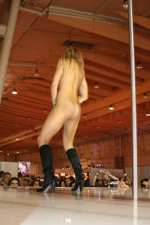 Experienced Czech stripper Kristy Lust fucked after exciting pole dance