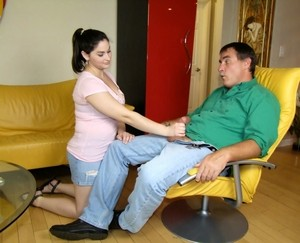 Experienced Tara Holiday and teen stepdaughter Ally got one dick for two