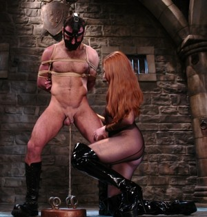 Helpless man undergoes CBT torture in a dungeon from Lady Lydia McLane