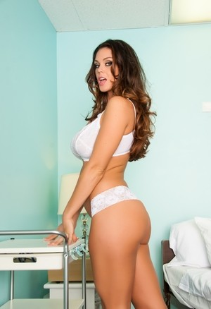 Gorgeous Alison Tyler flaunts excellent shapes and plays with orange vibrator