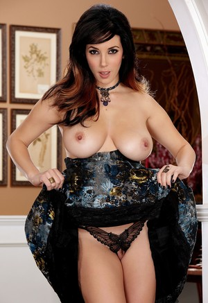 Hot MILF Jelena Jensen unveils her beautiful tits and ass as she strips naked