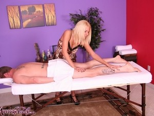 Hot blonde masseuse Riley Evans is selected for her happy ending finales