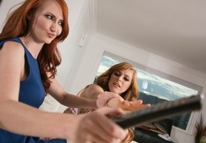 Naughty Penny Pax enticed stepmother Kendra James into kinky lesbian sex