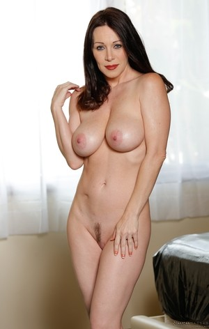 Arresting brunette RayVeness gives stepson oil massage and initiates sex