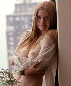 Beautiful solo model Monica Tidwell shows her nice tits for centerfold shoots