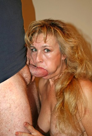 Crazy mature woman Mia sucks like a wild and gets her face covered with sperm