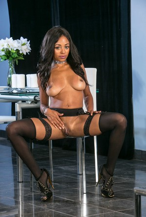 Sexy and beautiful black babe Anya Ivy displaying her big ass and big tits