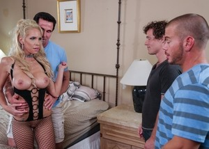 MILF Nadia North owned by Robby Echo and Marco Ducati in front of her husband