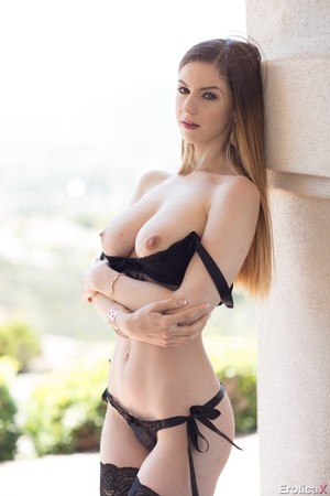 Sultry Stella Cox & schoolgirl Marica Hase strip naked to show their hot stuff