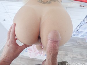 Cameraguy fucks busty blonde with hot ass and cums on her sweet anus