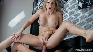 Upset stepmom receives big cock comfort from her doting stepson in hot POV