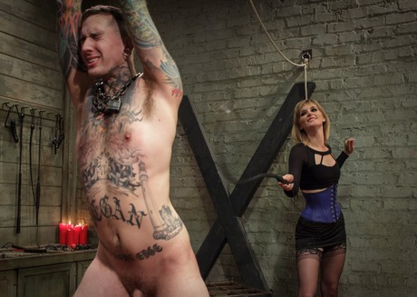 Merciless Dominatrix Mona Wales Punishes Tattooed Slave Xnxx 1